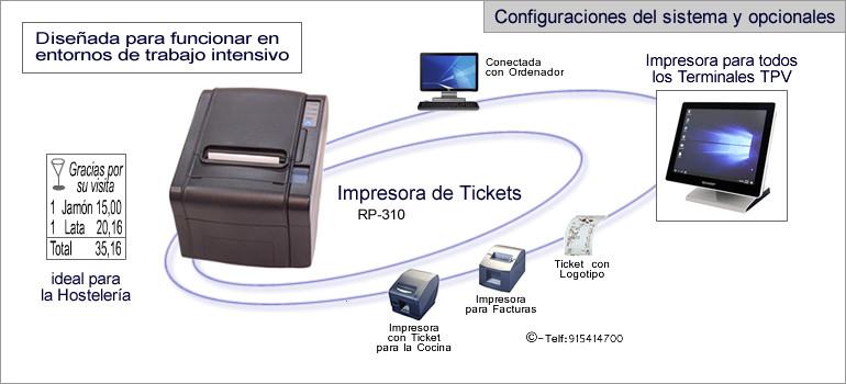 Configuraciones impresora modelo TPV RP-310