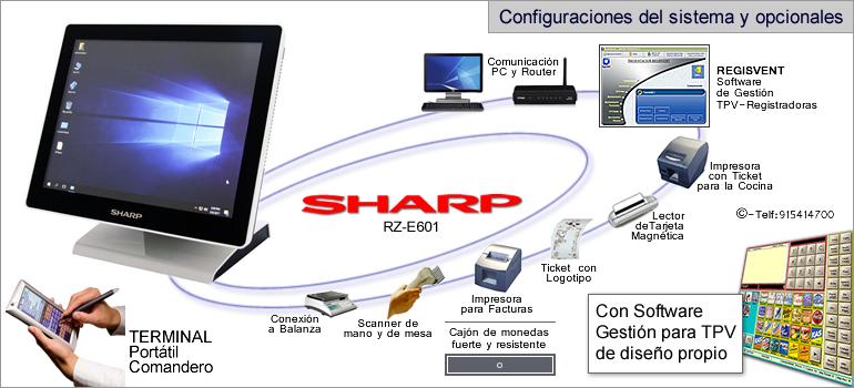 Configuraciones modelo sharp RZ-E601