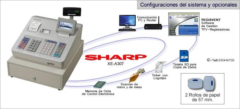 Configuraciones modelo sharp XE-A307