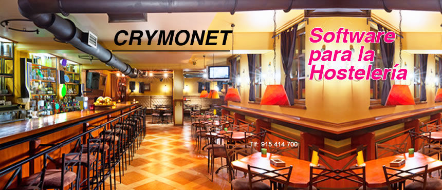 Software para la Hosteleria gestion tpv CRYMONET