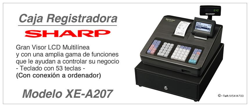 Modelo y Caracteristicas Registradora XE-A207