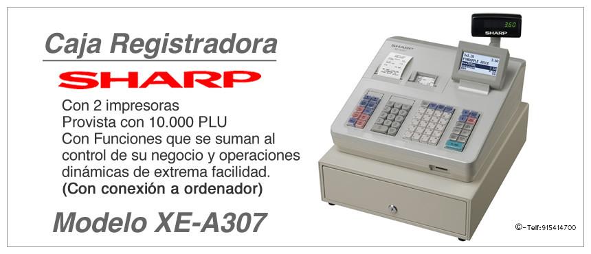 Modelo y Caracteristicas Registradora XE-A307