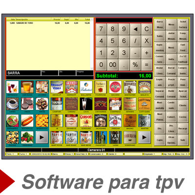 Software de gestion para tpv tactil Crymonet