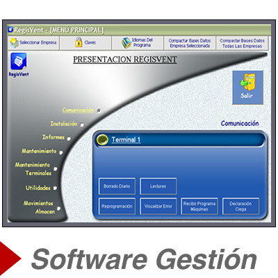 Software de gestion para tpv y registradoras Regisvent