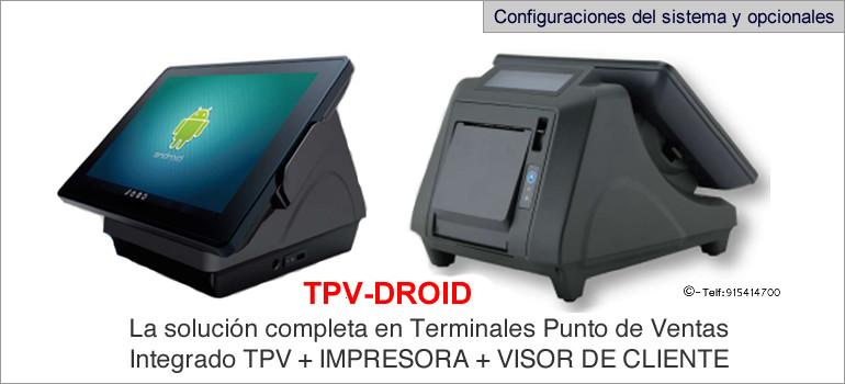 Configuraciones modelo TPV-DROID