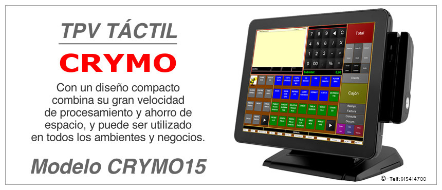 Modelo y Caracteristicas TPV CRYMO 15