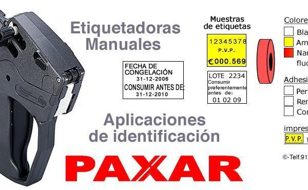 Etiquetadoras manuales PAXAR aplicaciones de identificación