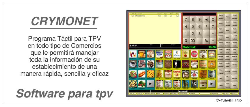 RYMONET software para TPV Táctil fácil de utilizar