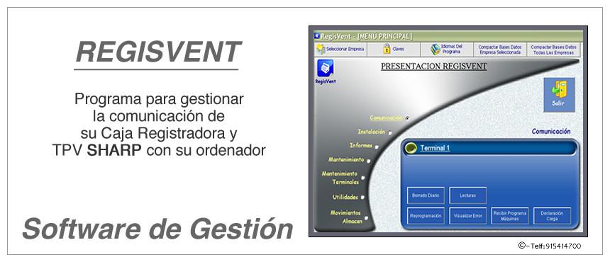 REGISVENT Software de gestión para la comunicación de sus puntos de venta